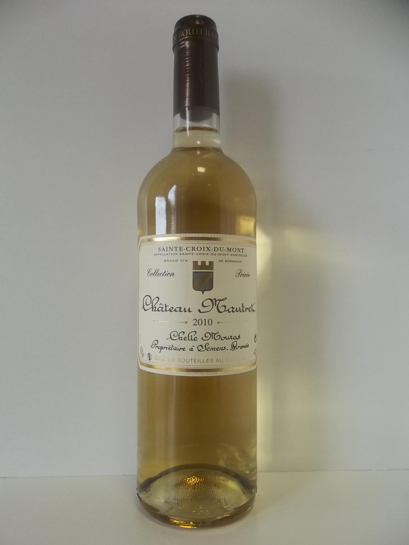 vin de bordeaux sainte croix du mont 2010 chateau mautret